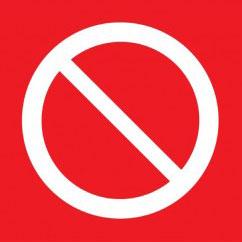 Prohibition Signs & Labels