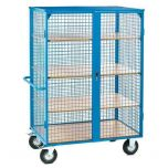 Distribution Trolley - Closed with Shelves