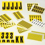 Self-adhesive Numbers & Letters - Individual sheets