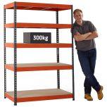 TUFF Value 300 shelving with 300kg load capacity per shelf (UDL)