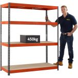 TUFF Value 450 Shelving (450kg UDL) with free next day delivery.