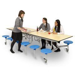 12 Seat Rectangular Folding Mobile Table Seating Unit