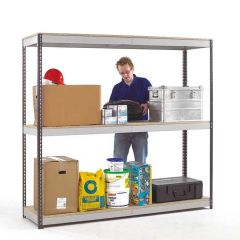 Heavy Duty Shelving - Dark Grey Uprights