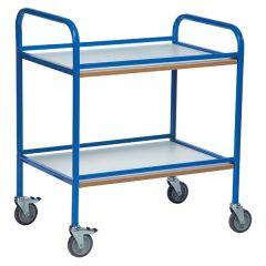 2 Shelf Service Trolley in blue