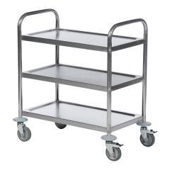 Stainless Steel 3 Shelf Trolley