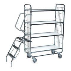 Flexible Ladder Trolleys - 4 Shelves