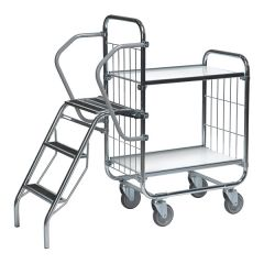 Flexible Ladder Trolleys - 2 Shelves