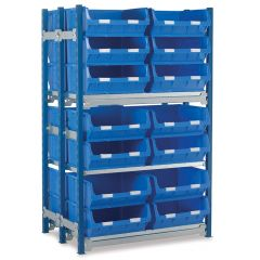 Shelving Kits with WPTC6 Bins