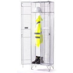 Express Wire Mesh Locker - 2x Single compartments