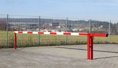 Parking Barrier with cylinder lock