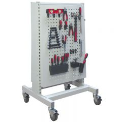 1250 Double Sided Pegboard Trolley with free tool clip kit