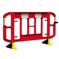 Titan 2m Traffic Barrier Anti Trip Hi Vis Feet Red