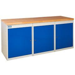 TUFF Pedestal Bench 3 Cupboards
