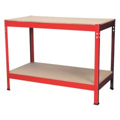 Budget Workbench 1.2 Metre Steel with Wooden Top (Sealey AP1210)