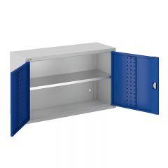 ToolStor W1000 x D350mm 1 Shelf Wall Cupboard - Blue Doors
