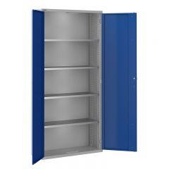 ToolStor D350mm 4 Shelf Tall Storage Cupboard - Blue Doors