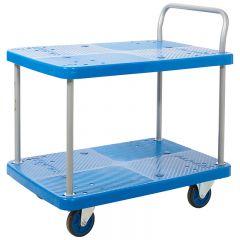 Plastic Shelf Trolley - 2 Tier