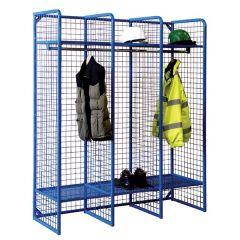 Wire Mesh Locker - Wall Mounted