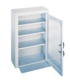4 Shelf First Aid Cabinet - Plexiglass Door
