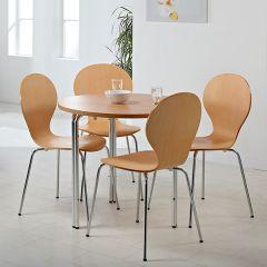 Ashford Table & Chair Set in beech