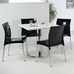 Halesworth Table & Chair Set in black