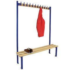 Single sided Bench Unit for Cloakrooms