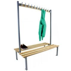 Double sided Cloakroom Bench Unit D750 x H1800mm