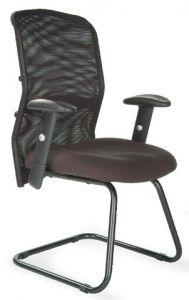 54083143BK[G] - Mesh Back Cantilever Armchair