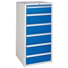 600 XL Euroslide 6 Drawer Cabinet - Blue