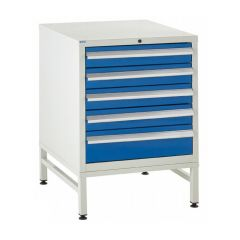 600 Euroslide Cabinet on Stand - 5 Drawers