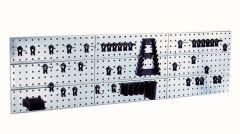 Tool Wall Perfo Panel Set 3 Panels, 44 Clips