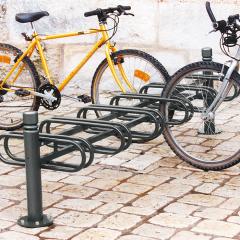6 Space Double Bike Rack - City Style
