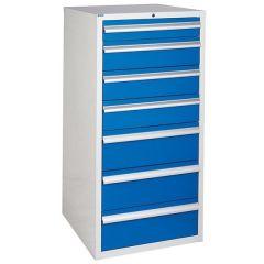 600 XL Euroslide 7 Drawer Cabinet - Blue