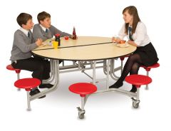 8 Seat Round Mobile Folding Table