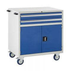 900 Euroslide Mobile Cabinets - 2 Drawer and Double Cupboard.