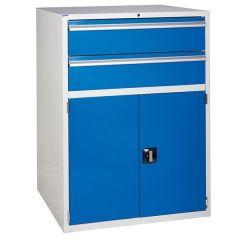 900 XL Euroslide 2 Drawer Cabinet - 2 x 200mm - Blue