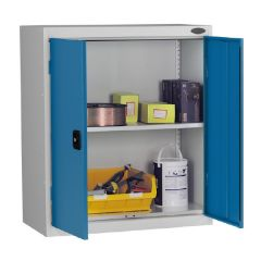 Probe Low Height Cupboard - Silver Body - Blue Door