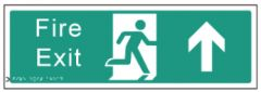 Braille Sign - Fire Exit Straight On, 450 x 150mm