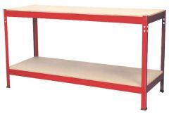 Budget Workbench 1.5 Metre Steel with Wooden Top