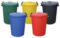 Coloured Clip Lid Containers