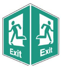 EasiFIX projecting Exit sign, 150 x 200mm