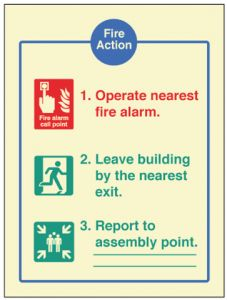 Fire Action - EEC (fire service dialled automatically)