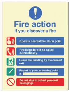 Fire Action manual without lift