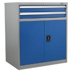 Industrial Cabinet 2 Drawer & 1 Shelf Double Locker