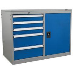 Industrial Cabinet 5 Drawer & 1 Shelf Locker