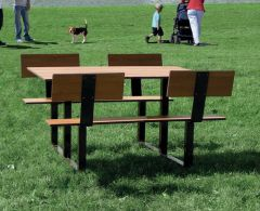 Picnic Table with Backrests
