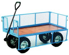 Platform Truck with Plywood Base, Mesh Sides and Ends