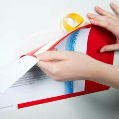 Adhesive Backed Document Pockets