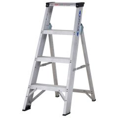 Werner Aluminium Swingback Stepladder - 4 tread