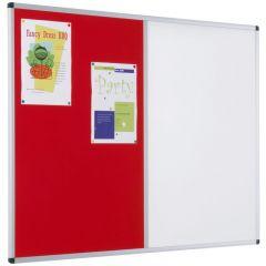 Aluminium Framed Felt/Drywipe Dual Notice Boards